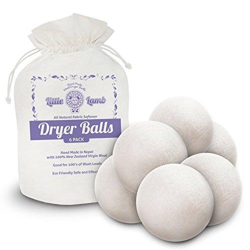 Little Lamb Wool Dryer Balls, 6 Pack