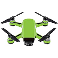 Skin For DJI Spark Mini Drone – Solid Lime Green | MightySkins Protective, Durable, and Unique Vinyl Decal wrap cover | Easy To Apply, Remove, and Change Styles | Made in the USA