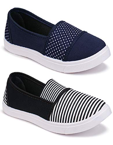 WORLD WEAR FOOTWEAR Women Multicolour Latest Collection Sneakers Shoes- Pack of 2 (Combo-(2)-11022-11031)