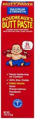 Boudreaux's Butt Paste Diaper Rash Ointment   Maximum Strength   4 Oz