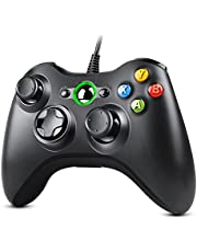 Zexrow Controller for Xbox 360, USB Wired Gamepad Joystick with Improved Dual Vibration and Ergonomic Design for Microsoft Xbox 360 & Slim & PC Windows 7/8/10(Black)