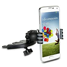 USA Gear Universal CD Slot Mount with Cradle-less Wide Mouth Clip & One-Step Installation – Works With Samsung Galaxy S6 , S6 Edge , Note 4 & More!