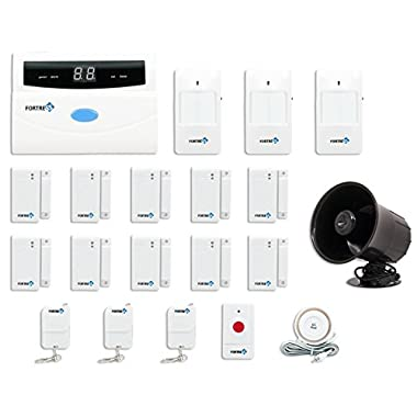 Fortress Security Store (TM) S02-B Wireless Home and Business Security Alarm System DIY Kit with Auto Dial + Outdoor Siren and More for Complete Home and Business Security