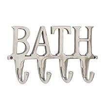 """Benzara 28472 Bath Wall Hook, 12"""" W x 6"""" H"""