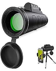 Monocular Telescope, 12x50 Monocular with Smartphone Holder & Tripod, BAK4 Prism FMC HD Monocular for Bird Watching Hunting Camping Wildlife