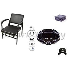 Round Salon ABS Plastic Shampoo Bowl Sink Reclining Shampoo Chair TLC-B12-KRGT-216A
