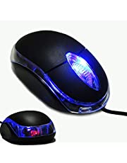 WIRED USB OPTICAL MOUSE FOR PC LAPTOP COMPUTER SCROLL WHEEL BLACK MOUSE MICE UK