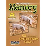 Stages Learning Materials SLM224 On The Farm Photographic Memory Matching Game
