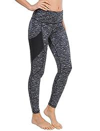 Queenie Ke Women Yoga Leggings Flex Mesh High Waist 3 Phone Pocket Gym Running Tights