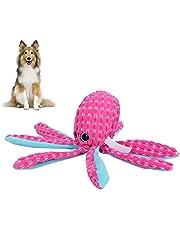 Puppy-octopus vocaal speelgoed, piepend speelgoed voor hond schattig uiterlijk huisdier piepend speelgoed vocaal speelgoed huisdier interactief speelgoed Corduroy octopus voor grote(M)