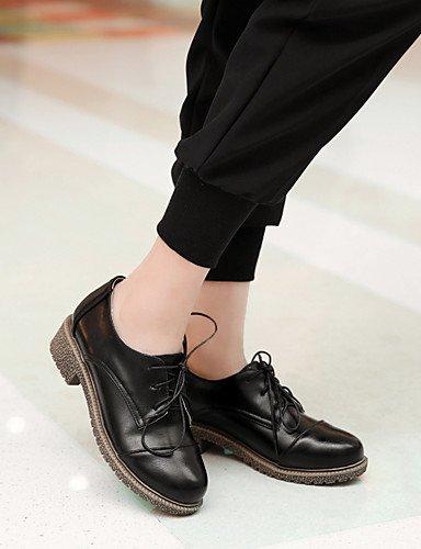 Njx Damen Schuhe Low Ferse Komfort rund rund rund Oxford Kleid Casual Schwarz Braun Rosa Beige Burgund B01KHBQC3U Schnürhalbschuhe Mode 04ac55