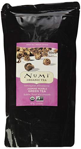 Numi Organic Tea Jasmine Pearls, 16 Ounce Pouch, Loose Leaf Green Tea (Packaging May Vary)