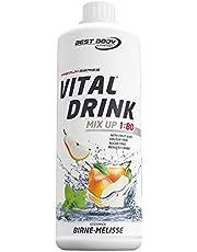 Best Body Nutrition Vital Drink Zerop® - peer-melisse, originele geconcentreerde dranksiroop zonder suiker, 1:80 geeft 80 liter kant-en-klare drank, 1000 ml