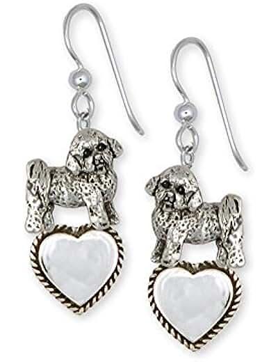 Sterling Silver Bichon Earrings