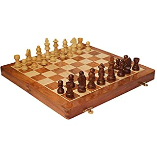 Chess Board Magnetic Chess Set with Extra Queen | 12 Inch Folding Small Chess Set with Wooden Case | Best Chess Sets for Adults, Kids | Chess Checkers Set | Wooden Chess Set Portable