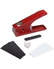 Ezisoul - Pick Guitar Picks - Plectrum Punch Maker Kit Voor Akoestische Elektrische Bass en Ukulele - Wordt geleverd met 10 Plastic Vellen Pick Houder en Bestand