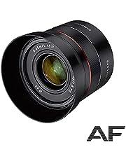 Samyang 22803 Portret Vaste Brandpuntsautofocus Full-Formaat Lens Voor Sony Alpha Spiegelloze Systeemcamera's, APS-C Camera's Met Sony E Mount, FE Mount, AF 45 mm/F1.8, 6.2 x 6.2 x 5.8 cm, Zwart