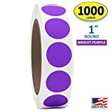 """1"""" Bright Purple Round Color Coding Circle Dot"""