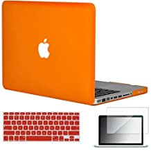 "Easygoby 3in1 Matte Frosted Silky-Smooth Soft-Touch Hard Shell Case Cover for 13-Inch MacBook Pro 13.3"" [Non-Retina] (Model: A1278) + Keyboard Cover + Screen Protector - Orange"