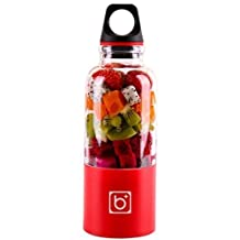 Katoot@ Gift Box Outdoor Portable Mixer Water Bottle Drink Cup Automatic USB Fruit Juicer Blender Juice Smoothie Maker (500ML, Red) by Katoot