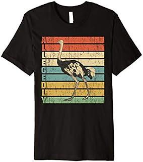 Allegedly Ostrich  Retro Flightless Bird Lover Premium T-shirt | Size S - 5XL