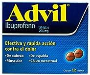Advil Grageas, 12 Tabletas.