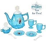 Disney Frozen Tea Set for Girls - 10Piece Tea Party Set - Pretend Tea Time Play Kitchen Toy - Ages