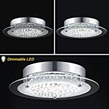 Crystal Flush Mount Ceiling Light Fixtures, DHK Wot