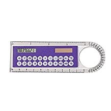 Justdolife Small Calculator Plastic Calculator Portable Ruler Shape 8 Digits Pocket Calculator for Kids