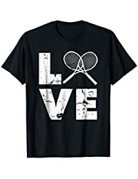 Love Tennis Tshirt, Distressed Vintage in White