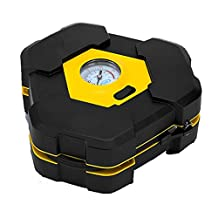 12V Cigarette lighter Portable Air Compressor Powered Air Inflator Mini Tire Inflator for Car tire, Motorcycle tire, Bike tire, Swim Wing, Sport Balls and More