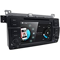 Hizpo Car DVD Player Special for BMW E46 3 Series M3 318/320/325/335 In Dash GPS Radio Stereo 7 Inch 1 Din Multimedia Touch Screen Bluetooth 4.0 Sub Volume Control