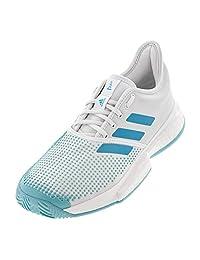 Adidas SoleCourt Boost x Parley Womens Tennis Shoe (White/Teal)