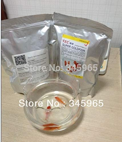 Koi fish and tropical fish food double spirulina Perfect combination of nutrition fish food   as photo show, 200gsm