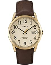 Timex Easy Reader 38mm Leather Strap Watch