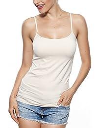 Franato Women's Seamless Camisole Spagetti Strap Tank Top Basic Camis
