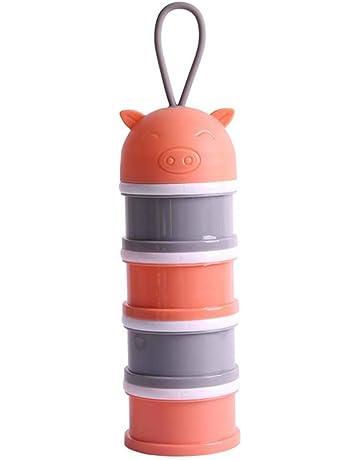 YeahiBaby Dispensadores de leche en polvo para viajes de campamento naranja