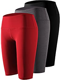 ed07bc868a0a2 Women s High Waist Workout Running Compression Shorts with Pocket