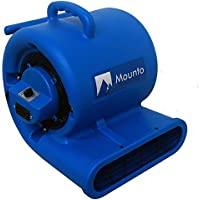 MOUNTO 2-Speed Air Mover Blower 1/3HP 2000+ CFM Flood Dryers with GFCI Dual Power outlet (Dark Blue)