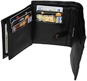 Genuine Handmade Leather Best Mens Wallets For Men-Bifold Trifold Cool Slim ID Zipper