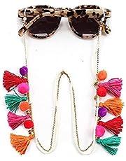 VINCHIC الملونة الخرز سلسلة النظارات الشمسية حامل قناع حبل حبل الشريط النظارات قلادة سلسلة حبل للنساء (شرابة بوهو )