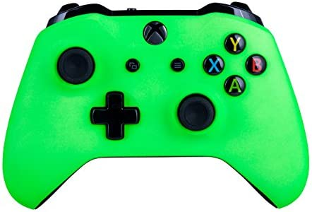 Xbox One S Wireless Controller for Microsoft Xbox One - Soft Touch Green X1 - Added Grip for Long Gaming Sessions - Multiple Colors Available