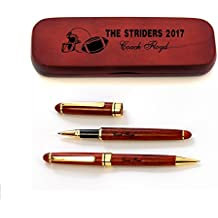 Personalized football coaches pen sets