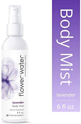 Home Health Flower Water Lavender Body Mist - 6 fl oz - Hydrates Skin After Bath, Aromatherapy Water, Natural Perfume Alternative - Non-GMO, Paraben-Free, Natural Fragrance, Vegan