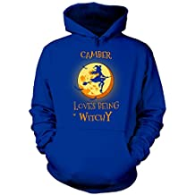 Camber Loves Being Witchy. Halloween Gift - Hoodie
