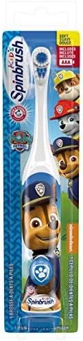 ARM & HAMMER Spinbrush Kids Battery Powered Toothbrush, Paw Patrol, Design May Vary, 1 c