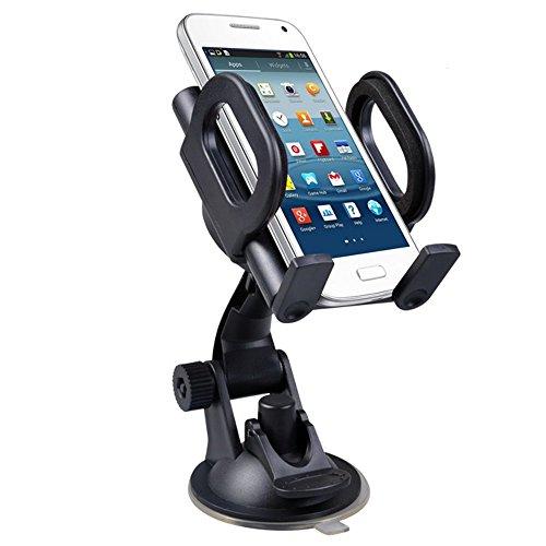 Maclean MC-659 - Soporte de Coche para movil, smaprtphone o navegador Montaje con Ventosa en Cristal o salpicadero