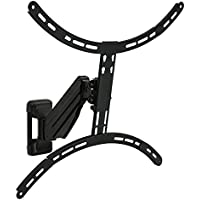 Mount-It! Height Adjustable TV Wall Mount, Interactive Counterbalance Full Motion Bracket with Gas Spring Arm, Fits LCD/LED/Plasma Screens 23-65 Inches up to VESA 600x400 and 55 Lbs.