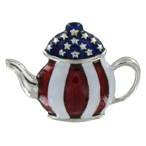 Online Stores, Inc. Tea Party Pin Silver Stars