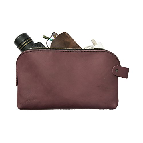 Large All Purpose Dopp Kit Utility Bag (Cords, Chargers, Tools, School / Office Supplies) Handmade by Hide  Drink :: Lavender